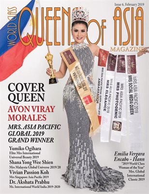 World Class Queens of Asia Magazine with Avon Viray Morales
