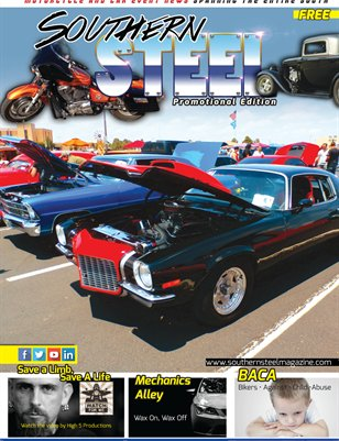 Southern Steel Motorcycle & Car Magazine Promotional Issue August 2014