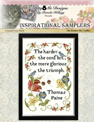 Inspirational Sampler The Harder The Conflict Counted Cross Stitch Pattern