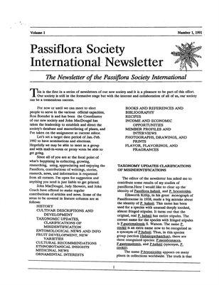 Vol 1,Nr 1, 1991