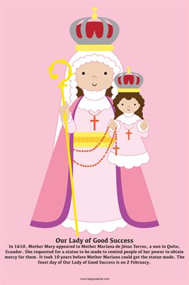Happy Saints Our Lady of Good Success Poster