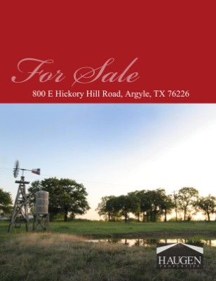 Haugen Properties - 800 E. Hickory Hill Road, Argyle, Texas 76226