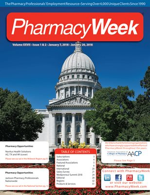 Pharmacy Week, Volume XXVII - Issue 1 & 2 - January 7, 2018 - January 20, 2018