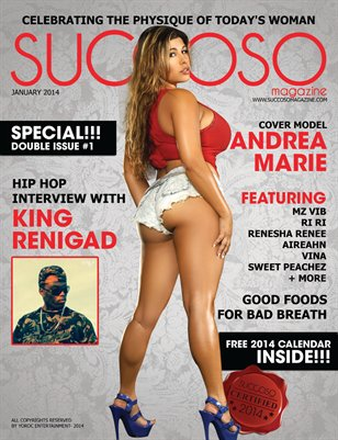 Succoso Magazine Double Issue #1 ft Cover Model Andrea Marie