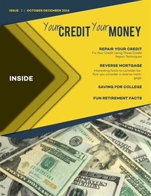 Your CREDIT Your MONEY OctDec 2016