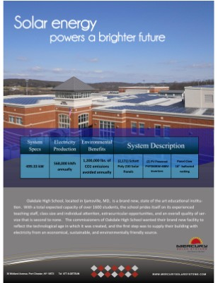 Oakdale High School Case Study with Mercury Solar Systems