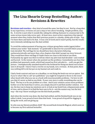 The Lisa Shearin Group Bestselling Author: Revisions & Rewrites