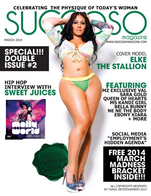 Succoso Magazine Double Issue #2 ft Cover Model Elke The Stallion