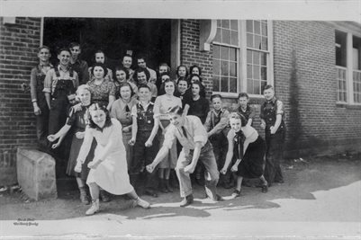 1937-38 MELBER HIGH SCHOOL PEP SQUAD
