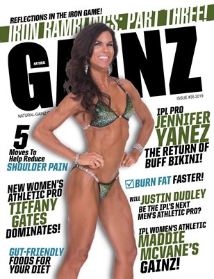 Natural Gainz Magazine Issue #35 - 2019 - Cover: Jennifer Yanez