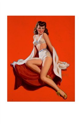 Brunette Pin-Up Classic 1940