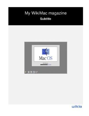 My WikiMac magazine
