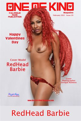 ONE OF A KIND MAGAZINE COVER POSTER - Cover Model RedHead Barbie - February 2021
