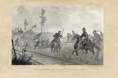 GEN. BURNSIDE AT THE BATTLE OF NEWBERN