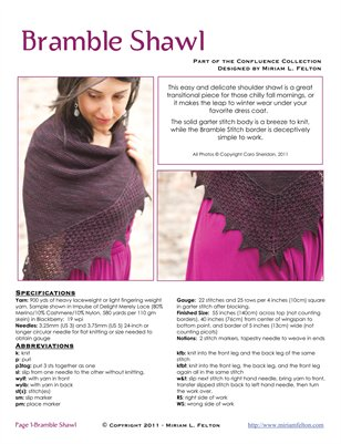 Bramble Shawl