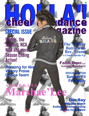 HOLLA'! Cheer and Dance Magazine Summer 2015 Issue