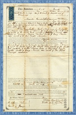 1869 Deed, William Thomas Smitty to Alexander Jourdan, Alexander County, Illinois