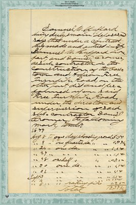 1877 Record of Liens, Samuel Hufford vs. Daniel Crowmer to S.W. Hufford, Miami County, Ohio