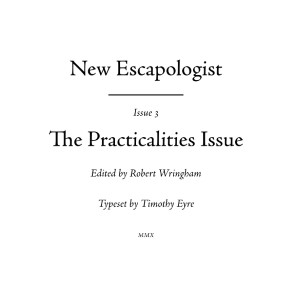 New Escapologist Issue Three