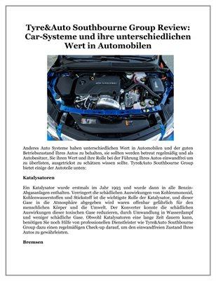 Tyre&Auto Southbourne Group Review: Car-Systeme und ihre unterschiedlichen Wert in Automobilen