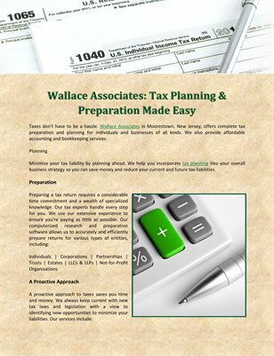 Wallace Associates: Tax Planning & Preparation Made Easy