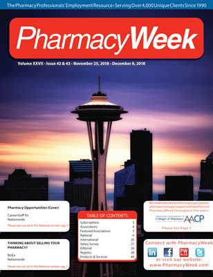 Pharmacy Week, Volume XXVII - Issue 42 & 43 - November 25, 2018 - December 8, 2018