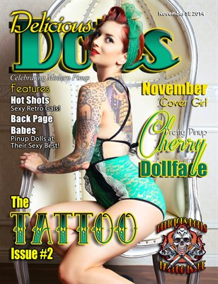 Delicious Dolls November 2014 Tattoo Issue #2 - Cherry Dollface Cover