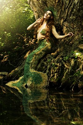 Arrielle Edwards River Mermaid Poster