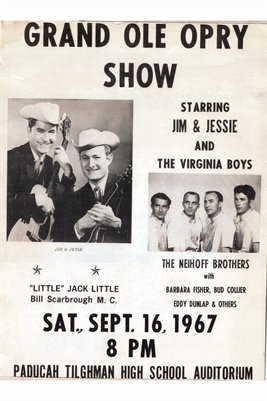 Grand Ole Opry Show Sept. 16, 1967, Paducah Tilghman High School