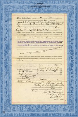 No.170801 1893 Quit-Claim Deed Joseph C. Linhoff and wife to Barbara Conter, Ramsey County, Minnesota