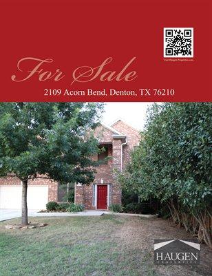 Haugen Properties - 2109 Acorn Bend, Denton, TX 76210