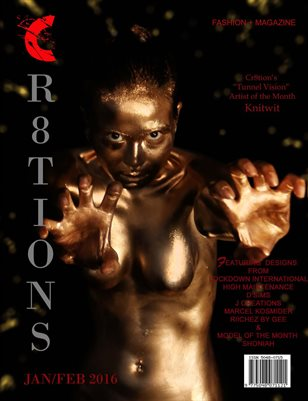 Cr8tions Magazine Jan/ Feb 2017 Issue (Photographer Tony Tone's Cover)