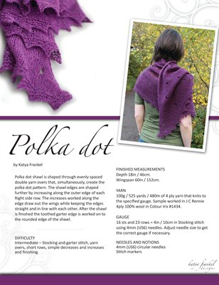 Polka dot shawl pattern