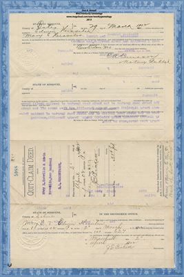 1902 QUIT-CLAIM DEED, MARY E. HEAVILIN & EDWIN TO G.L. ARMENTROUT