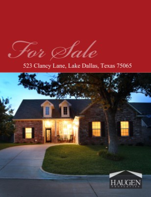 Haugen Properties - 523 Clancy Lane, Lake Dallas, Texas 75065