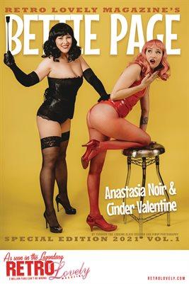 Bettie Page 2021 VOL.1 - Anastasia Noir & Cinder Valentine Cover Poster