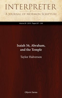 Isaiah 56, Abraham, and the TempleNew Publication