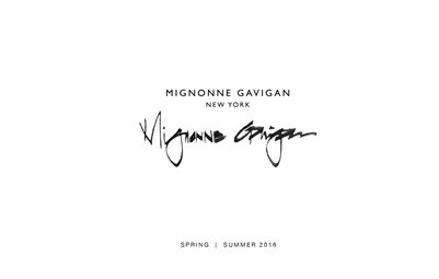 Mignonne Gavigan Spring 2016 Lookbook Retail Only