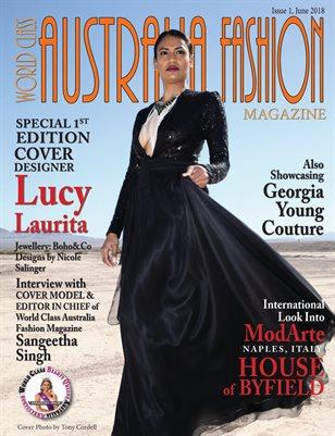 World Class Australia Fashion Magazine, Issue 1, Cover Designer Lucy Laurita