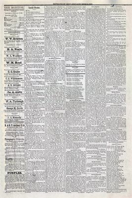 (PAGES 3-4) MAY 1, 1880 MAYFIELD MONITOR NEWSPAPER