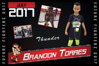 Brandon Toress Jr Cal Poster 2017