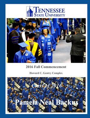 TSU 2016 Commencement - Pamela N. Backus