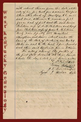 (PAGES 3-4) 1875 DEED OF MORTGAGE D.R. & J.E. ROBERTSON TO CHARLES GRAHAM