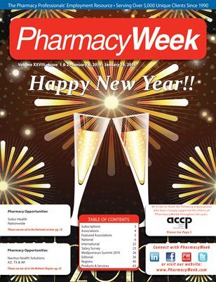 Pharmacy Week, Volume XXVIII - Issue 1 & 2 - January 6, 2019 - January 19, 2019