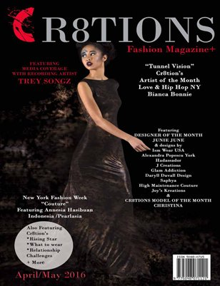 Cr8tions Magazine April/ May 2016 Model Christina / Junie June's Cover