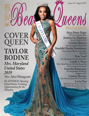 World Class Beauty Queens Magazine Issue 107 with Taylor Bodine
