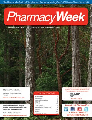 Pharmacy Week, Volume XXVIII - Issue 3 & 4 - January 20, 2019 - February 2, 2019