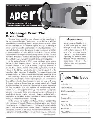 APERTURE, 2001, Issue 01