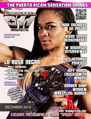 911Wrestling Magazine - La Rosa Negra Cover - with Trina Michaels and Jeff Hardy