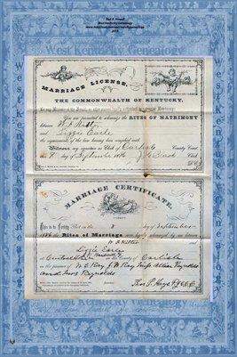 1886 W.F. RITTER - LIZZIE EARLE